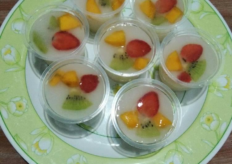 Resep Puding Buah Segar Dalam Cup Foodkitchen Info
