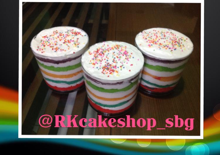 Resep Rainbow Cake In Jar Oleh Eri Mulyati / Rumah Kita