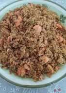 Nasi goreng udang untuk sarapan