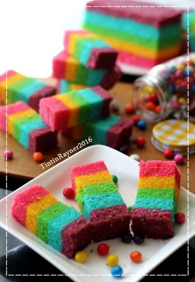 Steamed Rainbow Cake Ny Liem