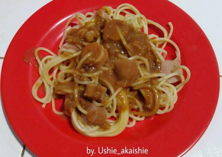 Resep Spaghetti Sosis Praktis Oleh Ushie Cookiyan Cookpad