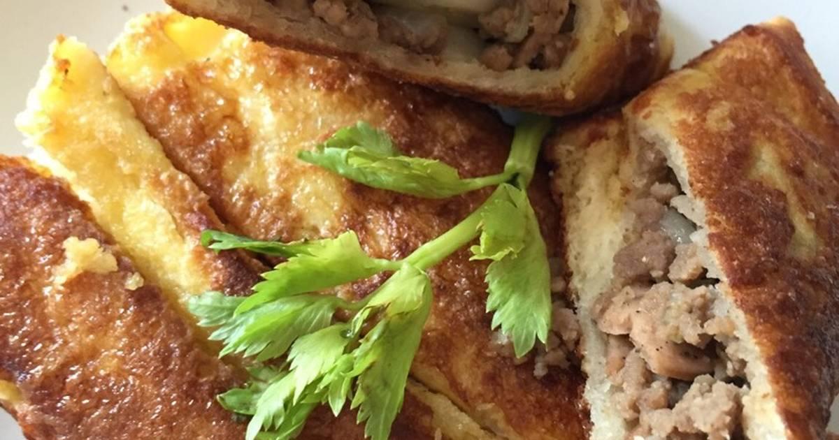 7 resep roti tawar goreng isi daging cincang enak dan