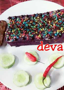 Brownies Blueberry Chocolate Kukus Deva