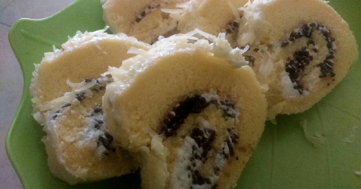 Resep Mini cheese roll cake/bolu gulung keju simpel dan lembut