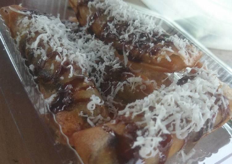 Resep Pisang Coklat Crispy Toping Keju Karya Meri Antii