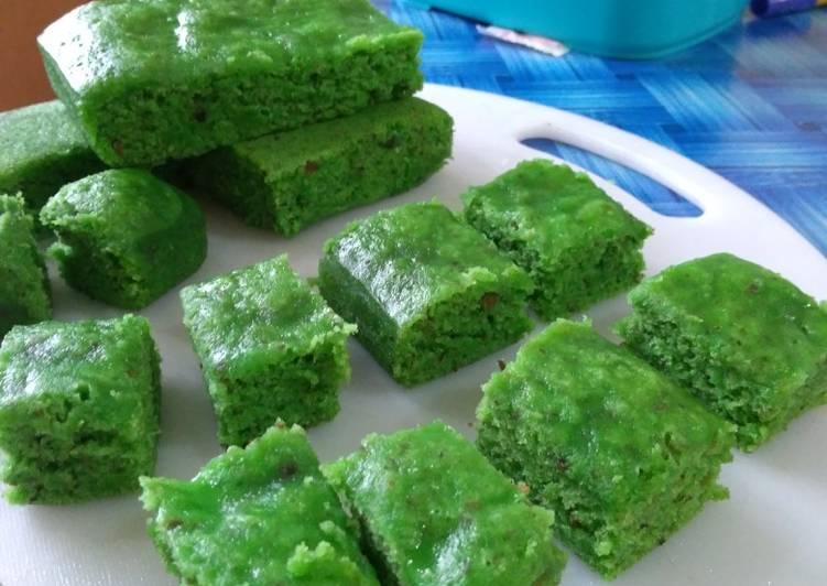 Cake Kukus Kurma Pandan, anti kecewa tuk #bikinramadhanberkesan