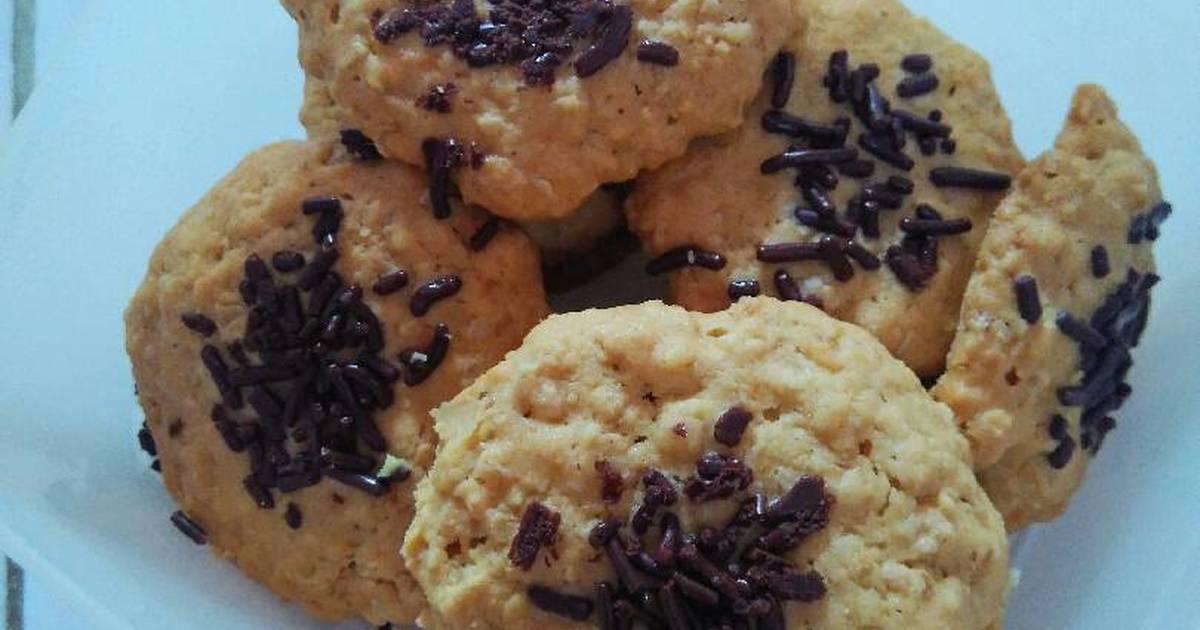 Resep Oat Cookies, healthy n crunchy~ 🍪🍪
