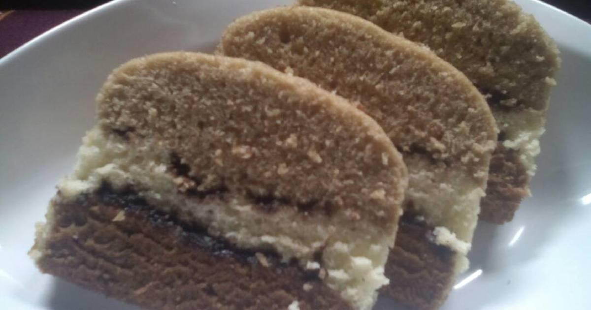 Resep Cake Kukus Labu Kuning Lapis Coklat: Lapis Kukus