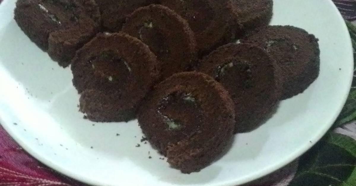 Resep Roll Cake Blackfores Lembut 3 telur