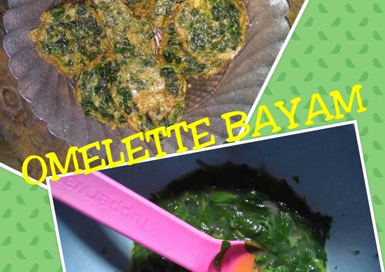 Omelette mie bayam