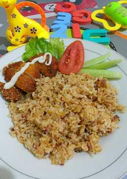 Nasi Goreng Kornet with Chicken Katsu Malam Malam