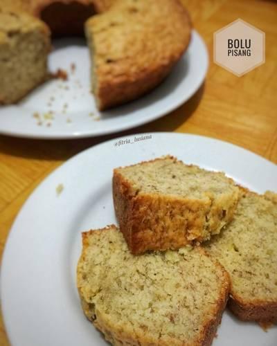 Bolu Pisang (Irit Telur, No Mixer)