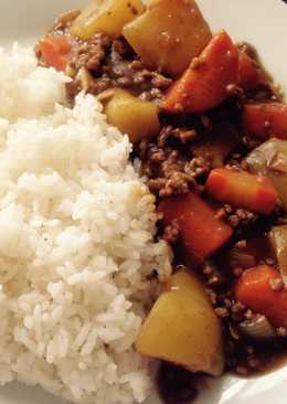 Nasi Kare Jepang dengan Daging Cincang