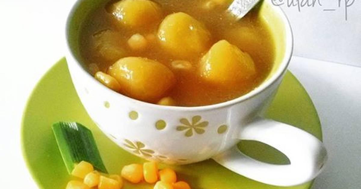 Resep Kolak candil kuah jagung