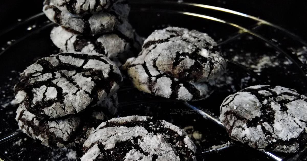 Resep CHOCO CRINKLE COOKIES
