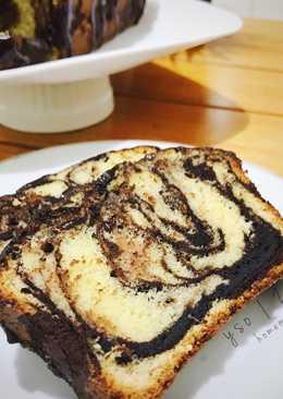 Moist Marble Cake / Marmer Cake Moist (beneran moist loooh, nyoklat dan buttery, recommended!)