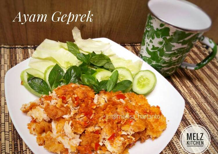 resep Ayam Geprek (Simple)