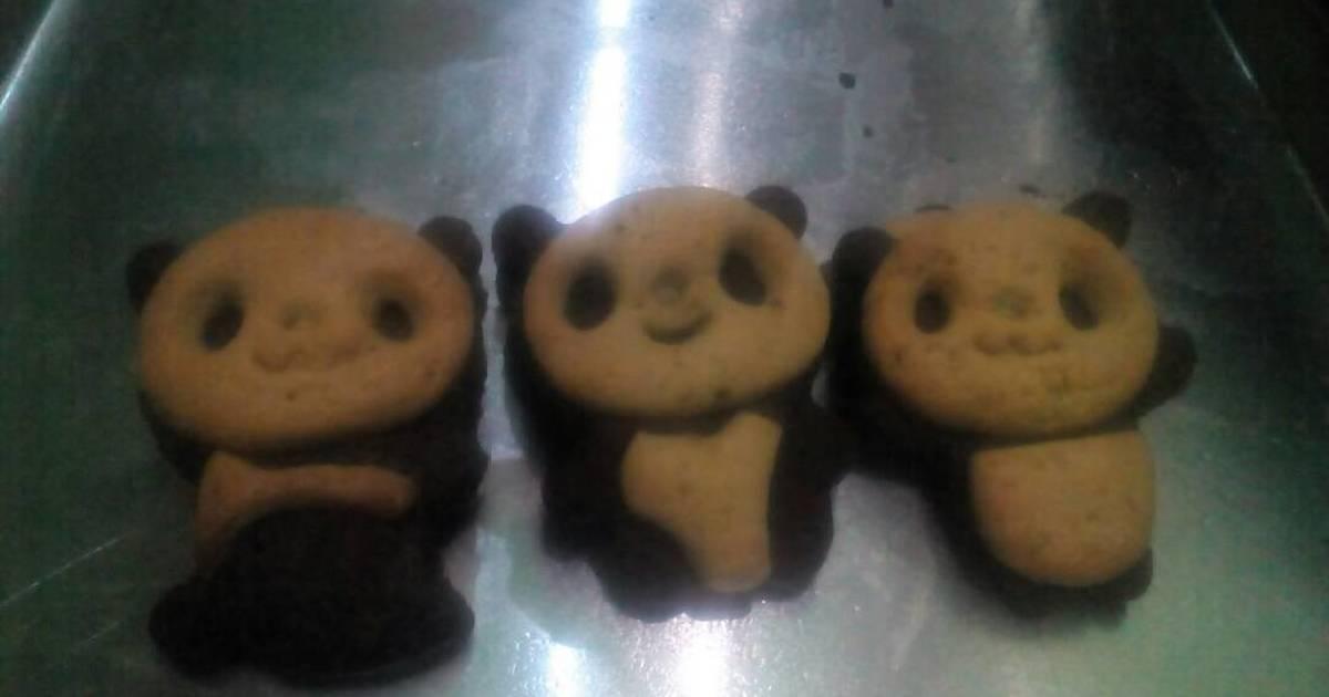 Resep Panda butter cookies