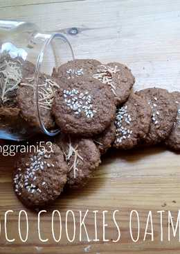 Choco cookies oatmeal.. menu diet.. no tepung.