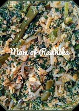 Urap Sayuran (daun pepaya,kangkung,tauge)