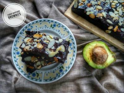 Brownies Alpukat (Fudgy Avocado Brownies) #BrowniesAlpukat
