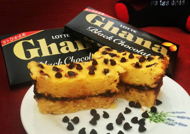 Choco sweet corn steamed cake no mixer