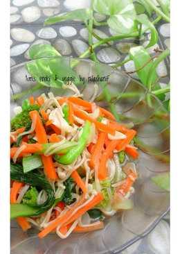 Tumis enoki & veggies