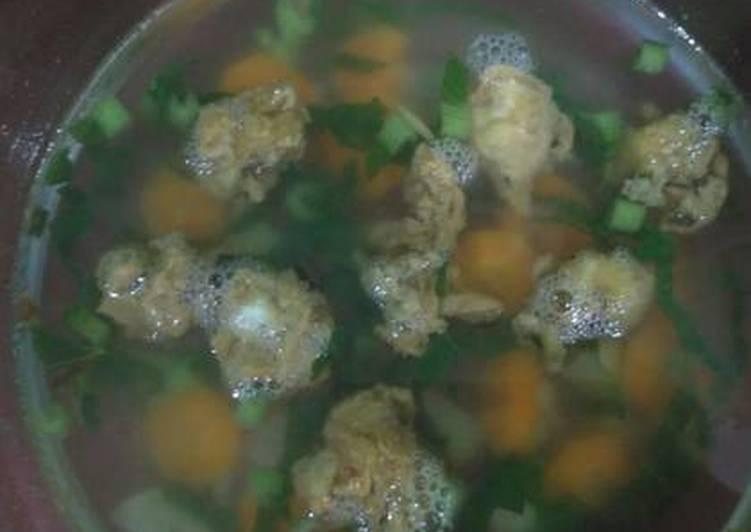Sup bakso tahu goreng