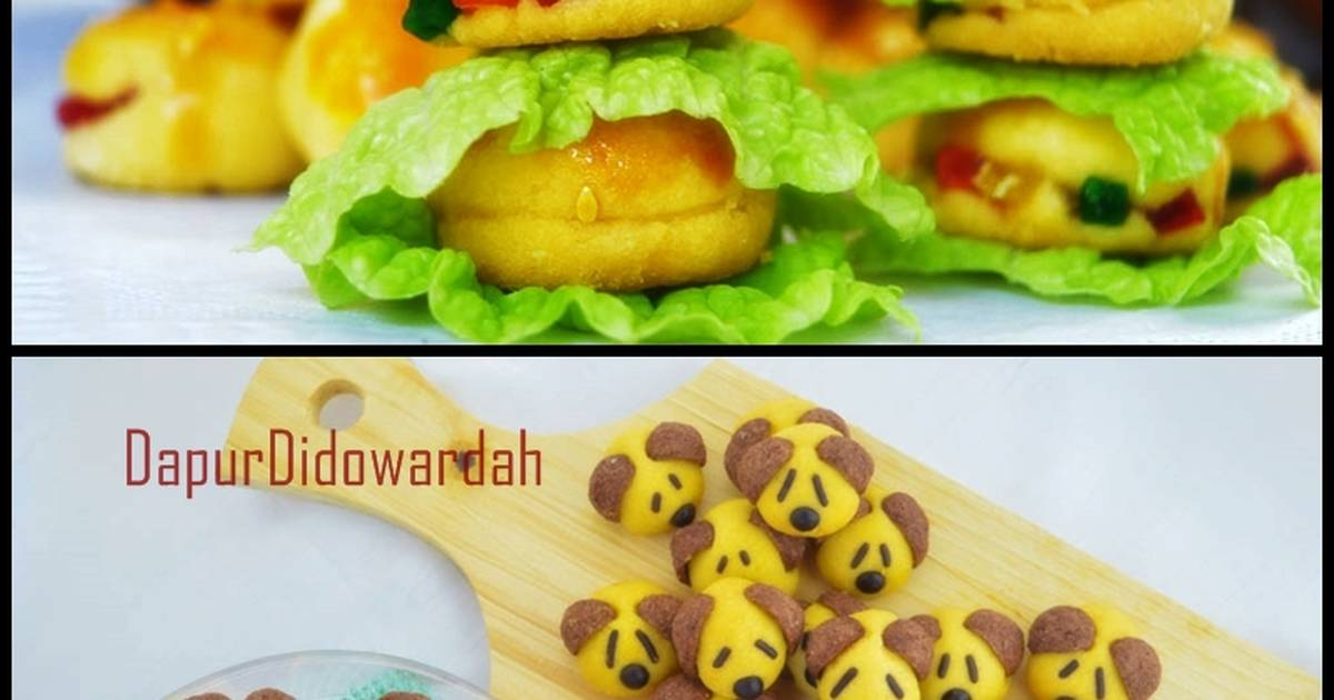 Resep Nastar Doggy Character & Nastar Burger Anti Gagal