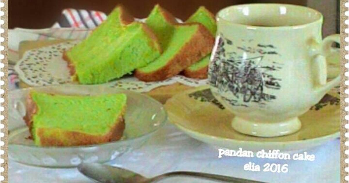 Resep Pandan chiffon cake super lembut