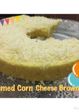 Steamed Corn Cheese Brownies/Bolu Jagung Keju Kukus