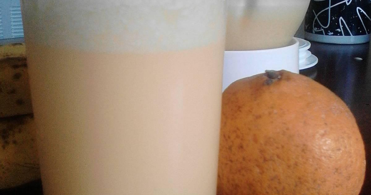 Resep jus jeruk+susu