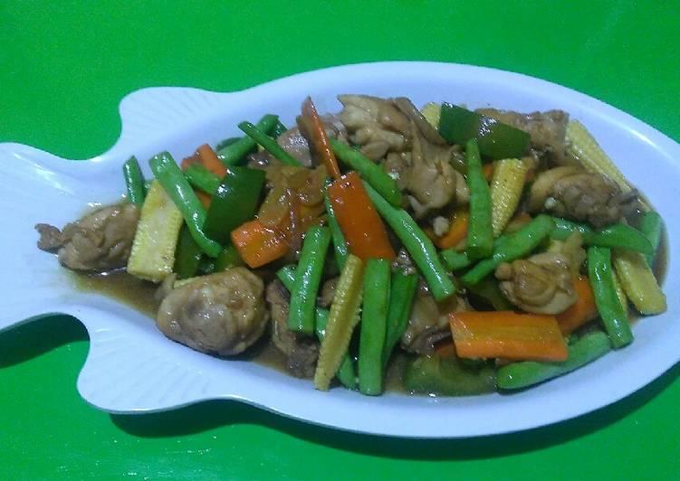 30. Ayam paprika sayur #BikinRamadhanBerkesan