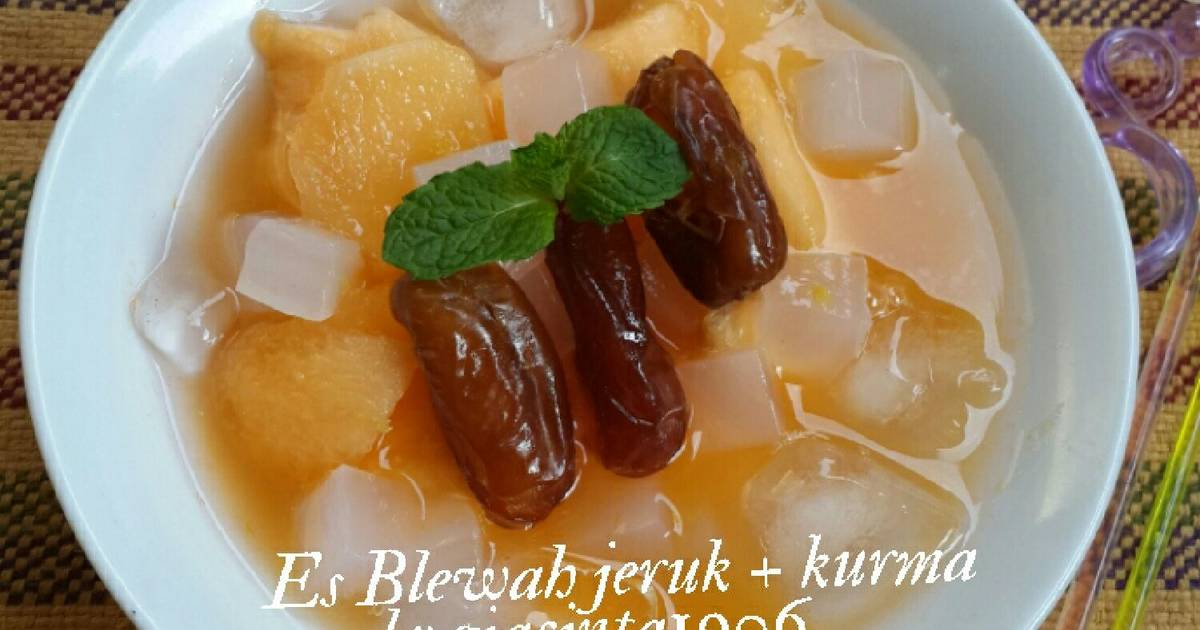 Resep Es Blewah jeruk + kurma