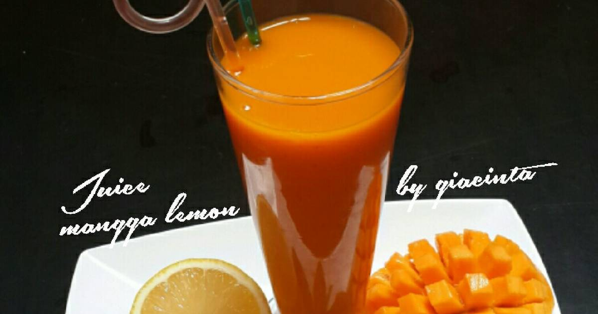 Resep Juice mangga lemon