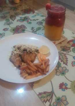 Dori chesee with lemon butter sauce