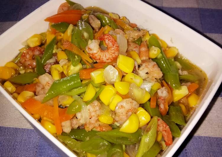 Resep Tumis udang sayur manis - chania lusiani
