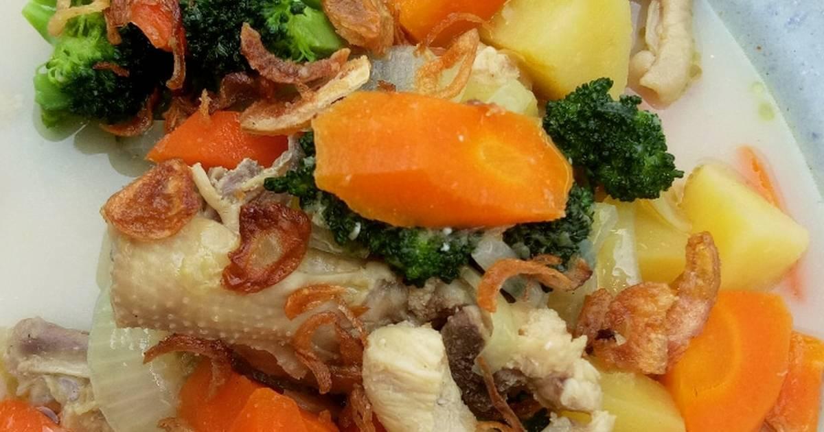 Sup sup bakso brokoli wortel sederhana sederhana