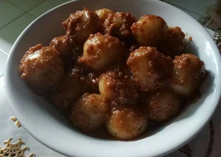 Resep Cilok bumbu kacang lembut kenyal dan gurih oleh Epin Aryskha Resep Cilok bumbu kacang lembut kenyal dan gurih - Epin Aryskha