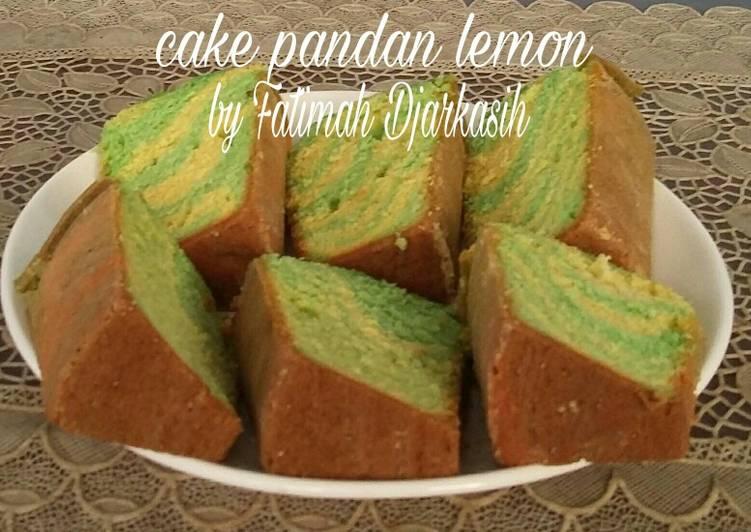 Cake pandan lemon