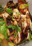 Roast chicken avocado salad