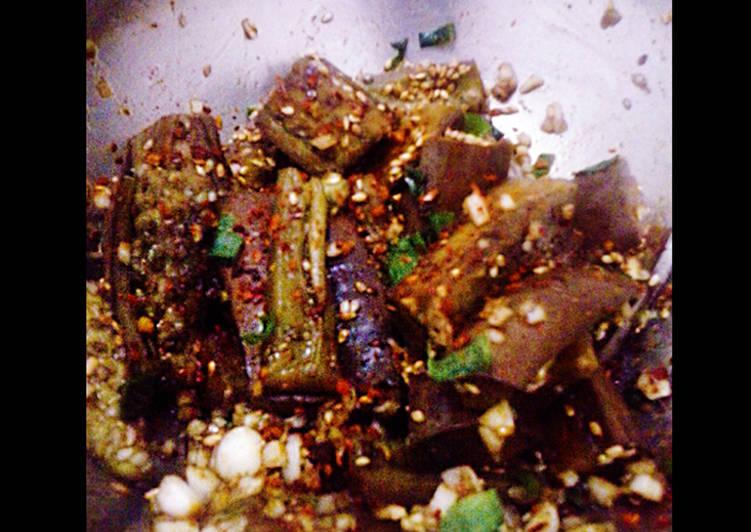 Resep Gaji Namul (eggplant side dish khas Korea) Karya PFX