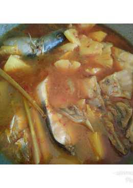 Asam pedas ikan patin mix nanas
