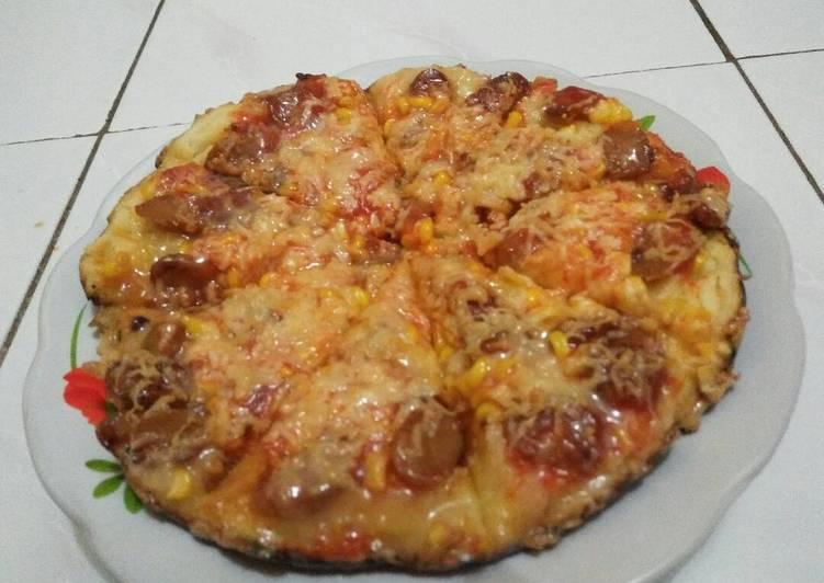Resep Pizza Teflon Topping Sosis Jagung Manis Ummu Umamah