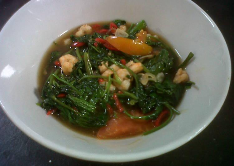 gambar untuk cara membuat Kangkung Ca Udang Saus Tiram Yum Yum