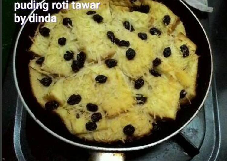 Puding roti tawar teflon (manfaatin sisa roti tawar)