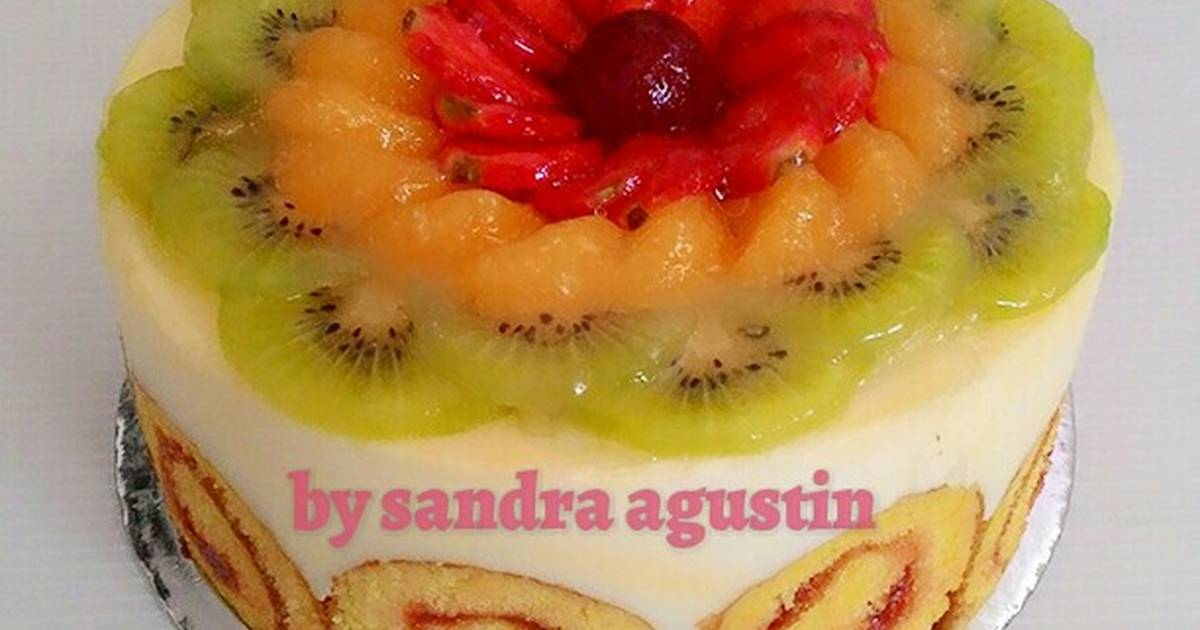 Resep FRUIT ROLL CAKE PUDDING
