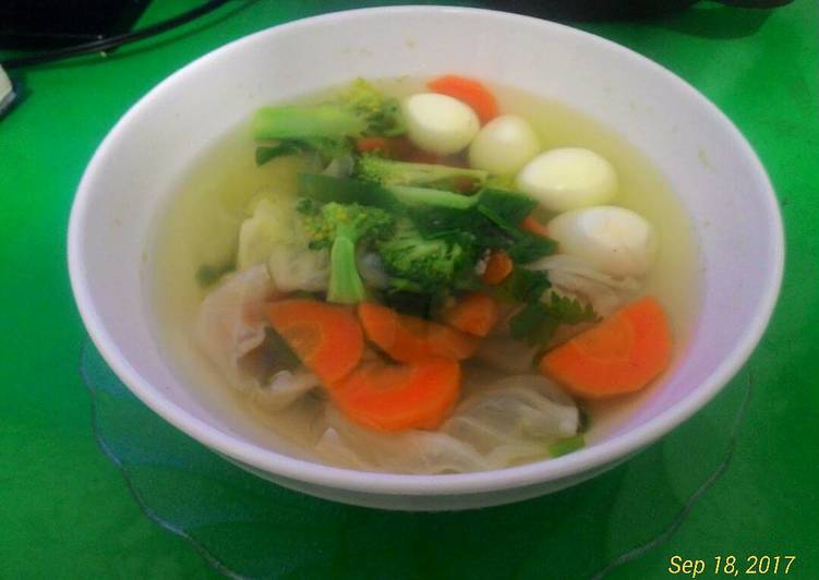Resep Sup Sehat tanpa Minyak (Non MSG) Kiriman dari Michelle'sExperiment(s)