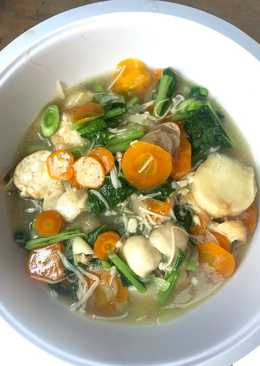 Cah Tofu jamur enoki