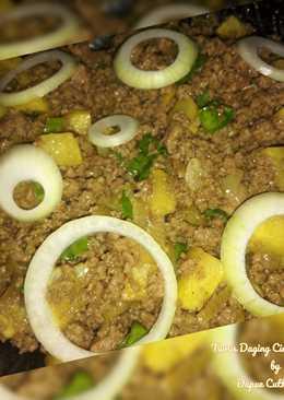 Tumis daging cincang bombay
